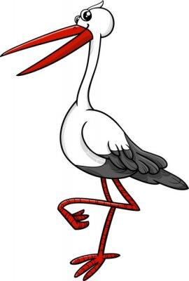 Väggdekor stork fågel djur karaktär