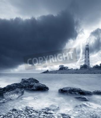 Väggdekor storm på havet