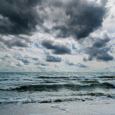 Väggdekor stormig himmel över mörka havet