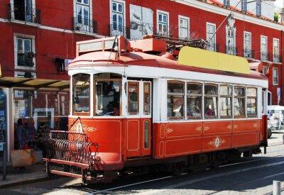 Väggdekor Strassenbahn i Lissabon