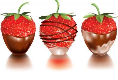 Väggdekor Strawberry i flytande