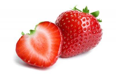 Väggdekor Strawberry isolerad på vit bakgrund