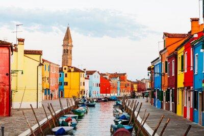 Väggdekor Street Scene i Burano Italien
