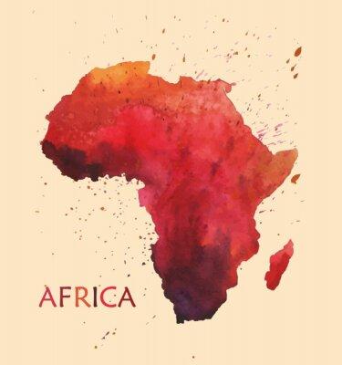 Väggdekor Stylized karta över Afrika.