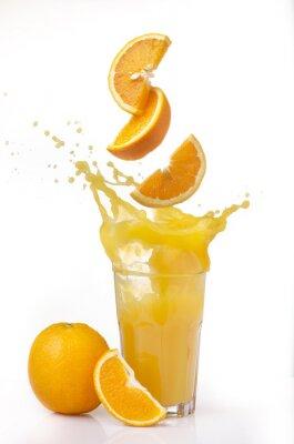 Väggdekor succo d'arancia splash