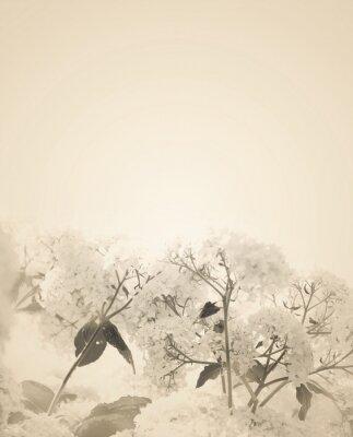 Väggdekor Suddig sepia blom bakgrund.