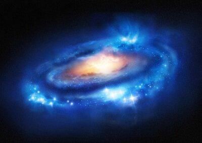 Väggdekor Super massiva Galaxy