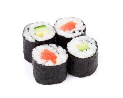 Väggdekor Sushi maki set med lax och gurka