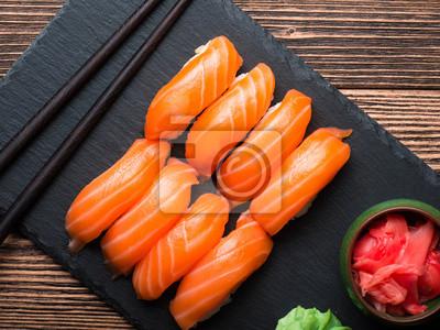 Väggdekor Sushi med lax