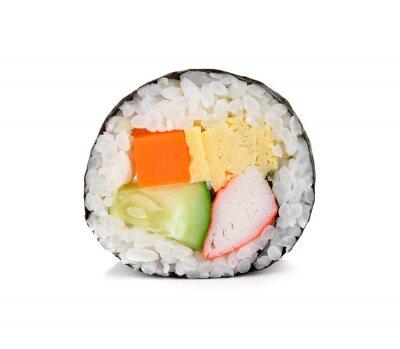 Väggdekor sushi roll isolerade på vitt.