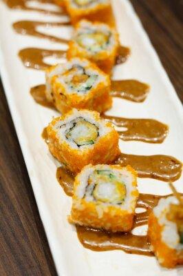 Väggdekor sushi rullar