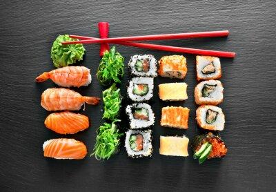 Väggdekor Sushi set och ätpinnar