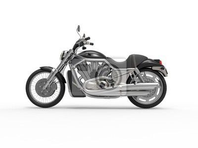 Väggdekor Svart Roadster Cykel - Sedd från sidan