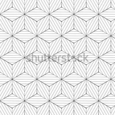 Väggdekor Svartvit geometrisk modell, bakgrundsvektor.