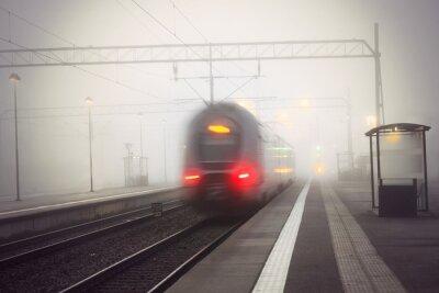 Väggdekor tåg lämnar stationen