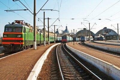 Väggdekor Tåg på järnvägsstationen