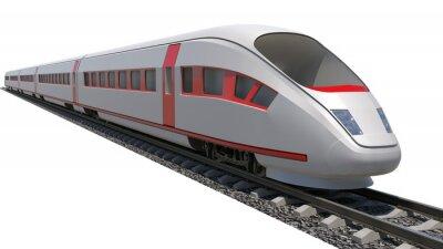 Väggdekor Tåg på vit bakgrund
