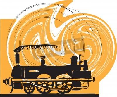 Väggdekor Tåg. Vektor