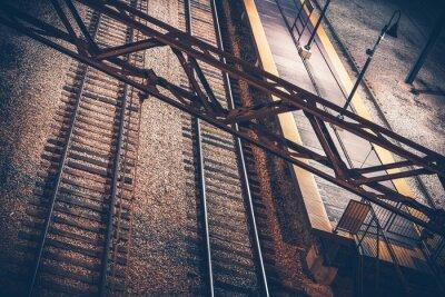 Väggdekor Tågstationen i natten