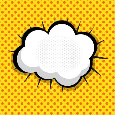 Väggdekor Tal Bubble Pop Art Bakgrund Dot bakgrund Vector Illust