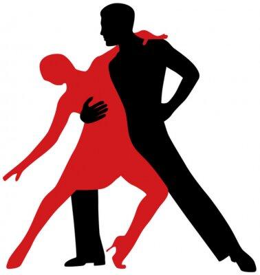 Väggdekor tango dansare