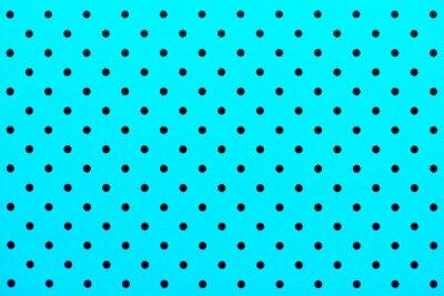Väggdekor tapet mönster svarta prickar i turkos färg bakgrund