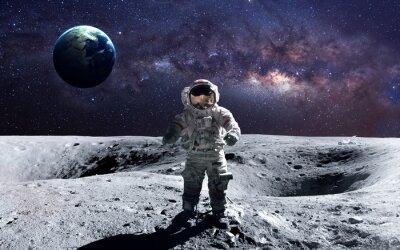 Väggdekor Tapper astronaut vid space på månen. Denna bildelement tillhandahållits av NASA.