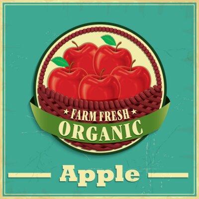 Väggdekor Tappning äpple affischdesign