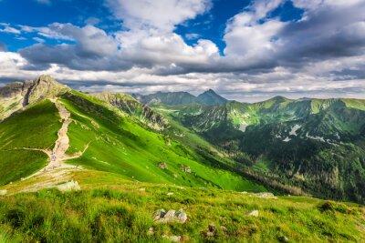 Väggdekor Tatra Mountains toppar i solig dag