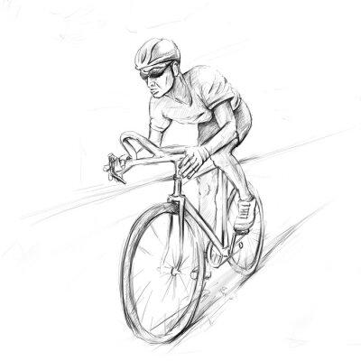 Väggdekor tävlingscykelist