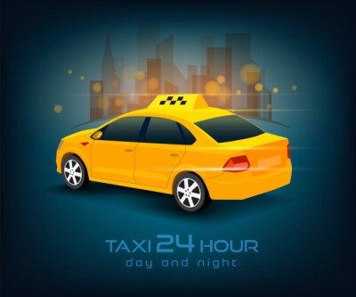 Väggdekor taxi bil