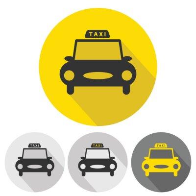 Väggdekor taxi bil plana ikoner som
