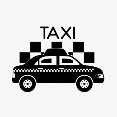 Väggdekor Taxi design.