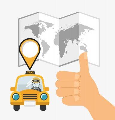 Väggdekor taxi tjänstedesign