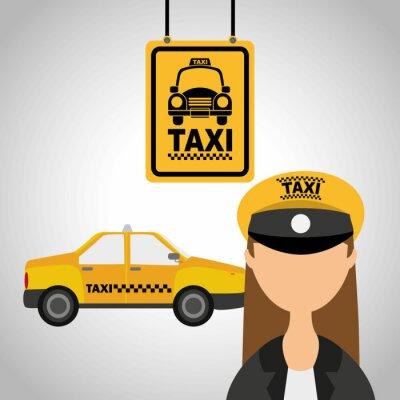 Väggdekor taxiservice
