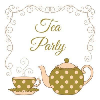 Väggdekor Teaparty kort
