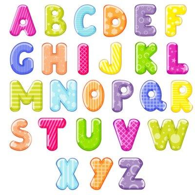 Väggdekor tecknad alfabetet