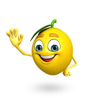 Väggdekor Tecknad citruskaraktär