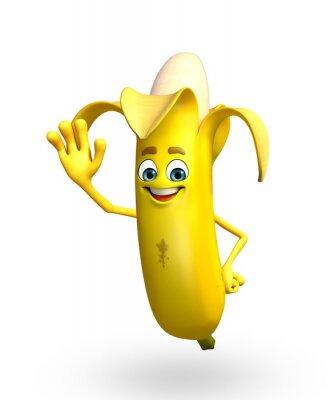 Väggdekor Tecknad karaktär banan frukt