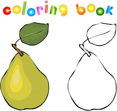Väggdekor Tecknad päron målarbok