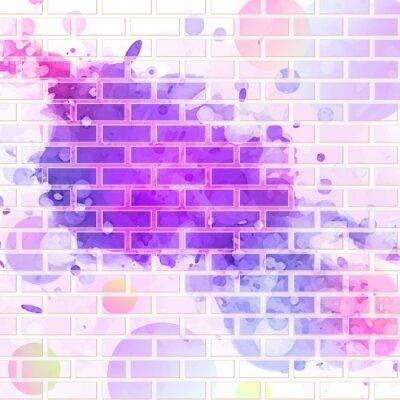 Väggdekor tegelvägg, graffiti