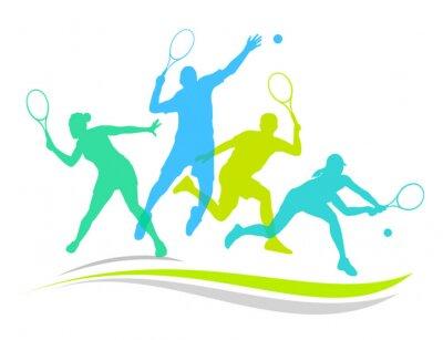 Väggdekor Tennis - 170