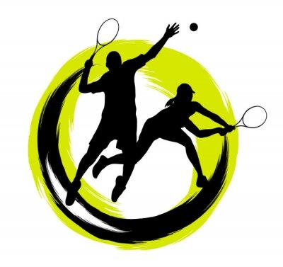 Väggdekor Tennis - 204