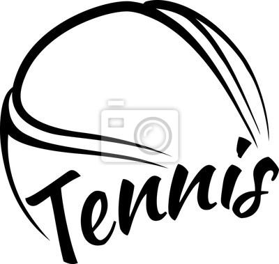 Väggdekor Tennis klumpa ihop sig med rolig text