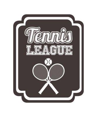Väggdekor tennis liga utformning