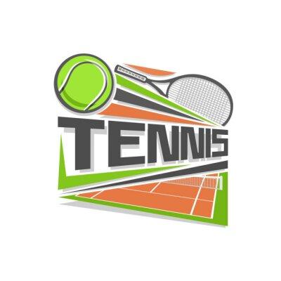 Väggdekor tennis logo