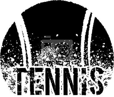 Väggdekor tennis mörk grunge
