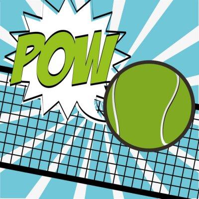Väggdekor tennis sportdesign