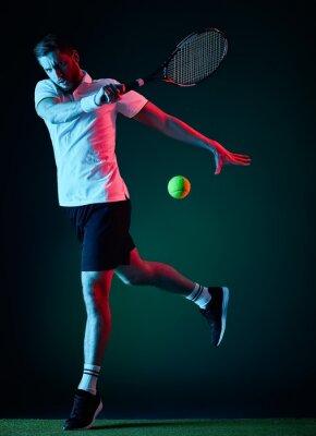 Väggdekor tennisspelare man isolerat