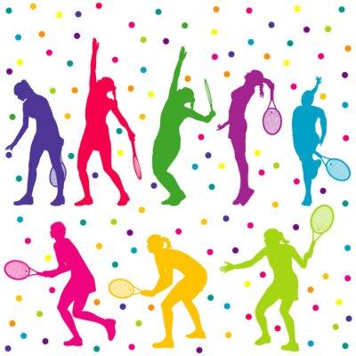 Väggdekor Tennisspelare siluett insamling